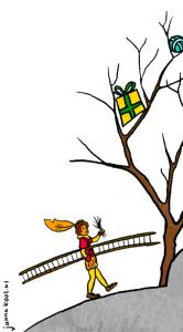 Piet met z'n Ladder