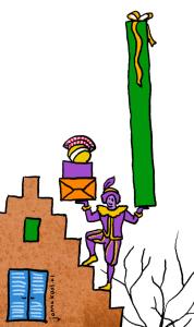 Piet balanserend op het Dak