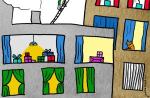 De flat op Sinterklaasavond