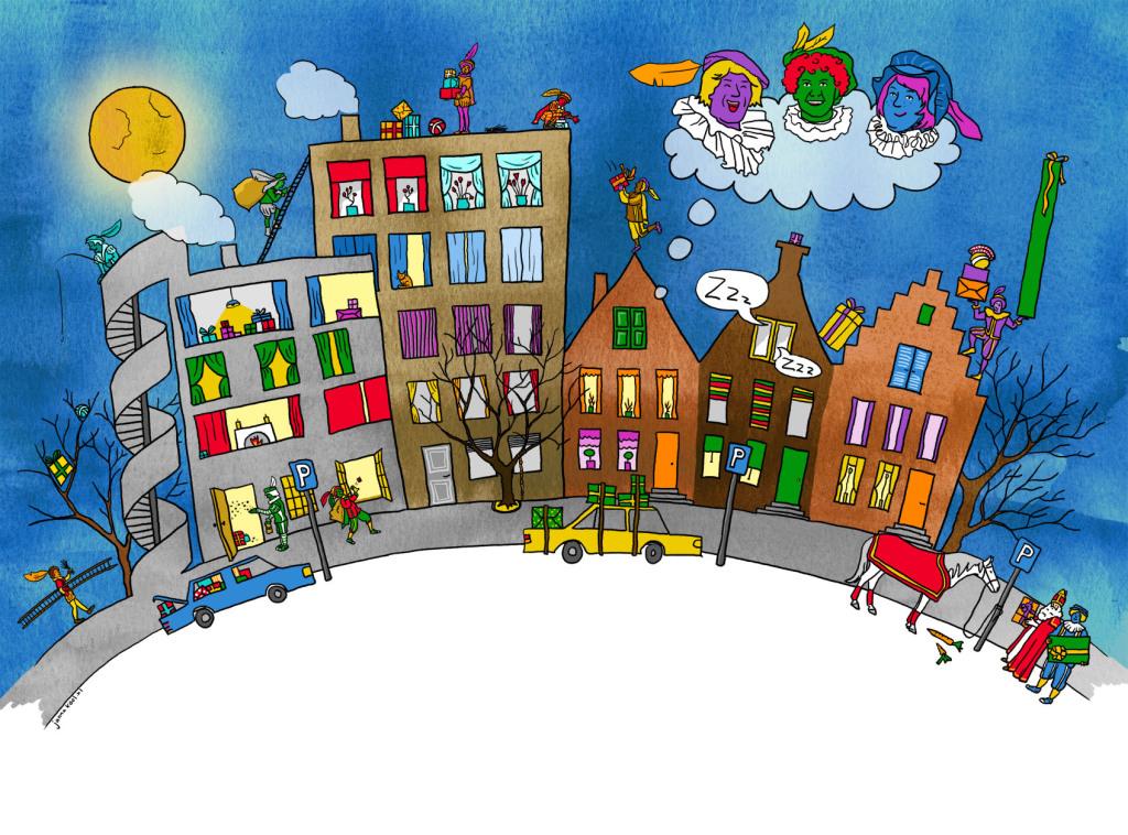 Sinterklaar en Bonte Pieten op 5 December